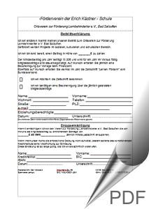 Screenshot Beitrittserklärung EKS Bad Salzuflen